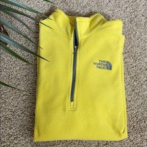 North Face Men's 1/4 Zip Fleece Jacket Yellow